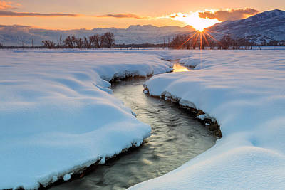 Photograph - Winter Sunset In Rural Utah. by Johnny Adolphson
