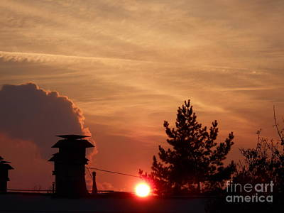 Photograph - Winter Sunset In The City by Erika H