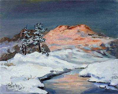 Sunset Painting - Winter Sunset In The Mountains by Irek Szelag