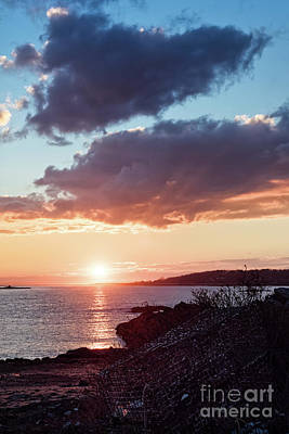 Photograph - Winter Sunset, Kettle Cove, Cape Elizabeth, Maine  -260109 by John Bald