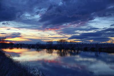 Photograph - Winter Sunset by Lynn Hopwood
