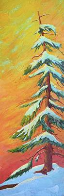 Painting - Winter Sunset by Nancy Jolley