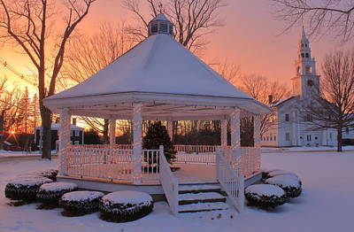 Photograph - Winter Sunset On The Common Templeton Ma by John Burk