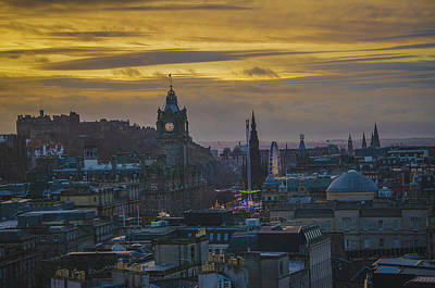 Photograph - Winter Sunset Over Edinburgh by Edyta K Photography