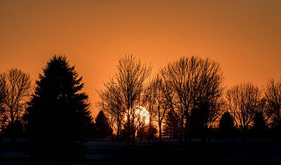Photograph - Winter Sunset by Patti Deters