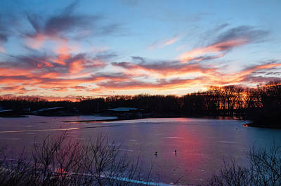Photograph - Winter Sunset by Phyllis Taylor