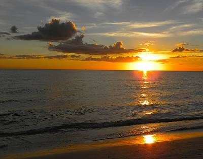 Gulf Of Mexico Photograph - Winter Sunset by Ric Schafer