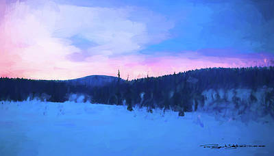 Digital Art - Winter Sunset by Roger Lighterness