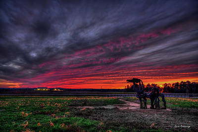 Photograph - Winter Sunset The Iron Horse Greene County Art by Reid Callaway