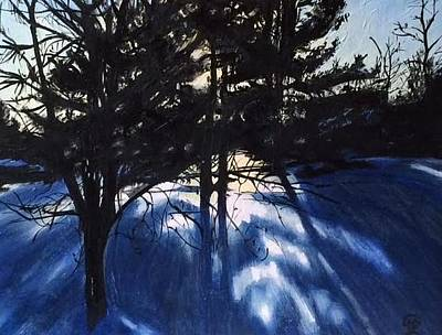 Painting - Winter Sunset by Therese Legere