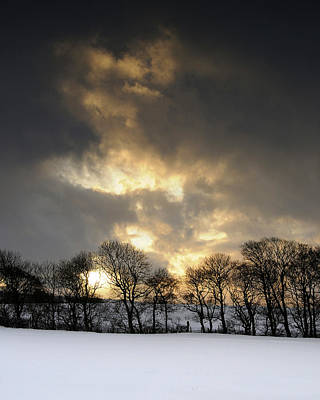 Photograph - Winter Sunset, Trough Of Bowland, England by David Stanley