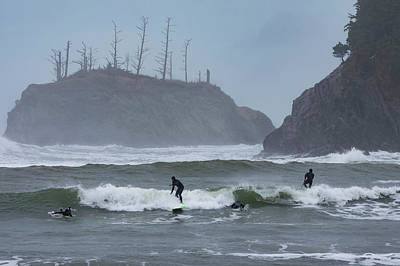 Photograph - Winter Surfing by Steven Clark