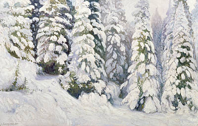 1934 Painting - Winter Tale by Aleksandr Alekseevich Borisov
