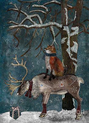 Snowy Trees Mixed Media - Winter Tale by Francesca Rizzato