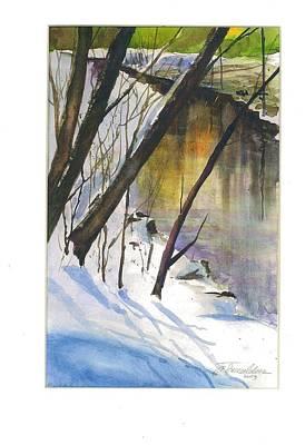 John Smeulders Painting - Winter Tale by John Smeulders
