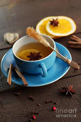 Winter Tea With Ingredients Art Print by Tanja Riedel