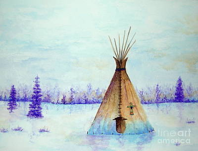 Painting - Winter Tepee by Tamyra Crossley