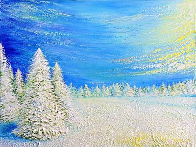 Painting - Winter by Teresa Wegrzyn