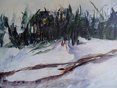 Linda King Painting - Winter Thaw by Linda King