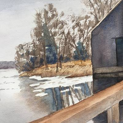 Painting - Winter Thaw by Peggy Poppe