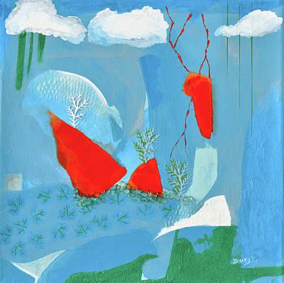 Winter Thunder Art Print by Donna Blackhall