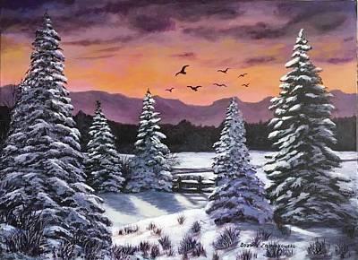 Painting - Winter Time Again by Bozena Zajaczkowska