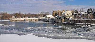 Winter Time At Fairmount Waterworks Art Print