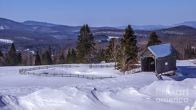 Photograph - Winter Time At The Foster Covered Bridge by Scenic Vermont Photography