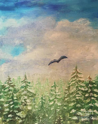Painting - Winter To Spring by Shelley Myers