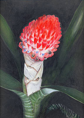 Epiphyte Painting - Winter Torch by Penrith Goff