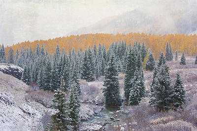 Photograph - Winter Touches The Mountain by Kristal Kraft