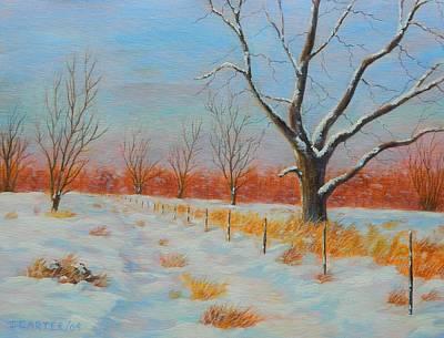 Carter.oil Painting - Winter Trail Carter by John Carter