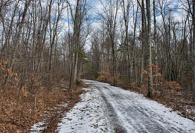 Photograph - Winter Trail by John Black