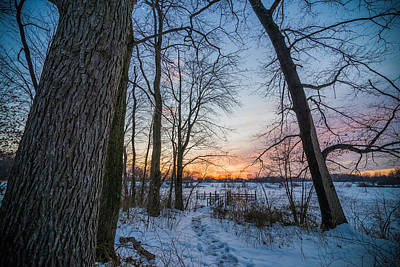 Bucks County Photograph - Winter Trails by Kristopher Schoenleber