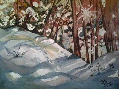 Painting - Winter Tranquility by Chris Bajon Jones