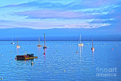 Photograph - Winter Tranquility In Carrick Roads Hdr by Terri Waters