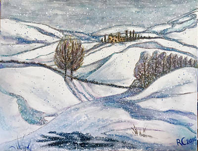 Painting - Winter Tranquility by Rae Chichilnitsky