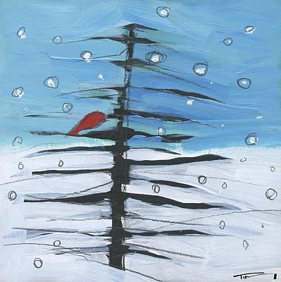 Painting - Winter Tree Bird 3 by Tim Nyberg