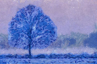 Digital Art - Winter Tree by Greg Collins