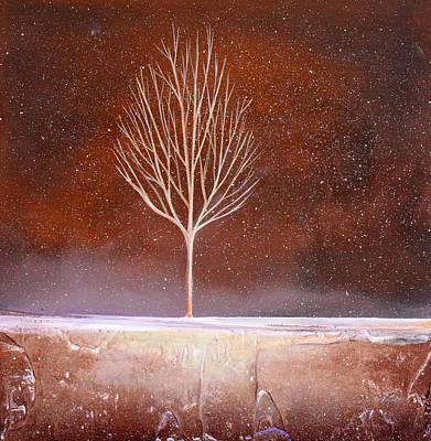 Winter Tree Art Print by Toni Grote
