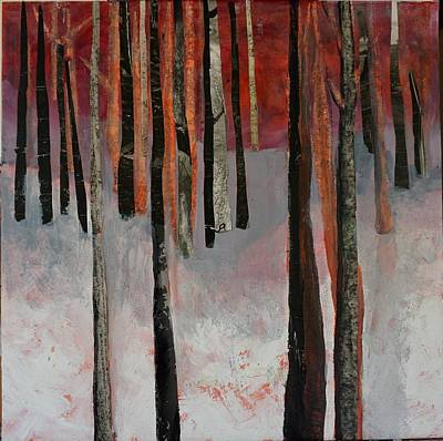 Mixed Media - Winter Trees 1 by Jillian Goldberg