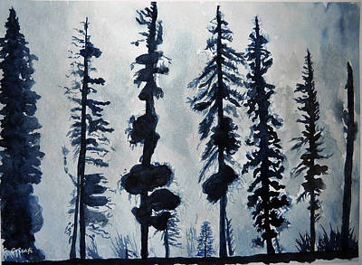 Painting - Winter Trees by Carol Crisafi