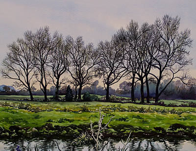 Winter Trees  Art Print by Christopher Ryland