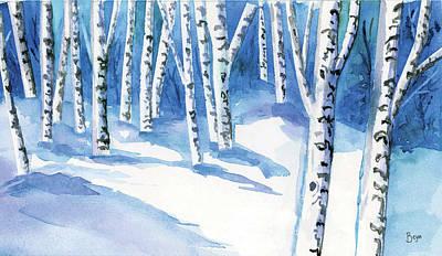 Painting - Winter Trees by Clara Sue Beym