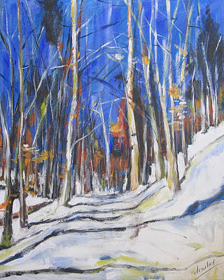 Painting - Winter Trees by Debora Cardaci