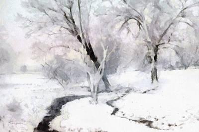 Winter Trees Art Print by Francesa Miller