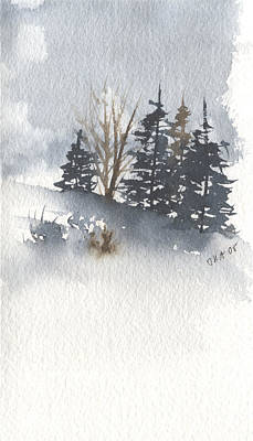 Painting - Winter Trees by Jan Anderson