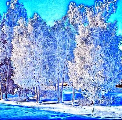 Digital Art - Winter Trees by Ron Bissett