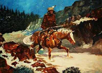 Painting - Winter Trek by Al Brown