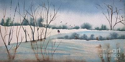 Painting - Winter Hike  by Eunice Miller